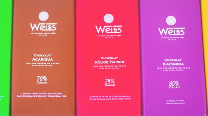 chocolats Weiss pour pâtisserie